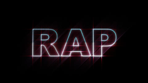 RAP LEDS 01 Stock Video Footage