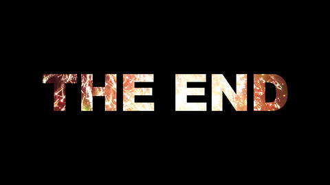 The End fireworks 01 Animation