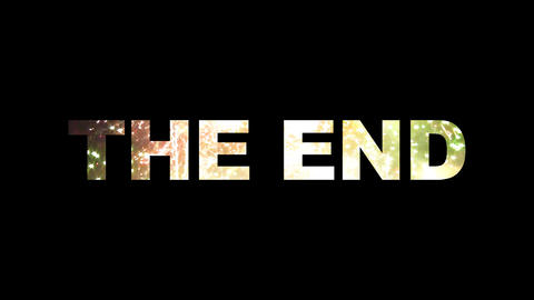 The End fireworks 01 Stock Video Footage