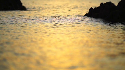 sunset wave Stock Video Footage