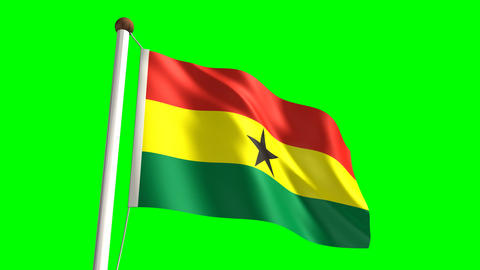 Ghana flag Stock Video Footage