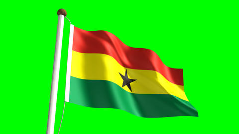 Ghana flag Animation
