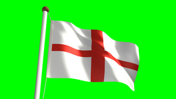 England flag Stock Video Footage