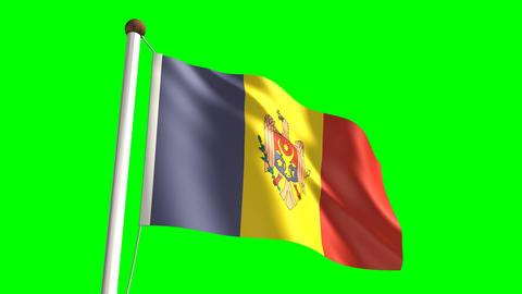 Moldova flag Stock Video Footage