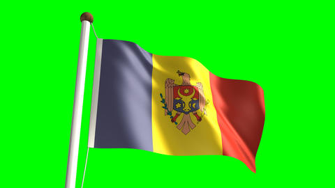 Moldova flag Stock Video Footage