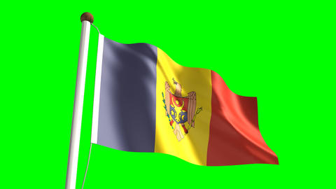 Moldova flag Animation
