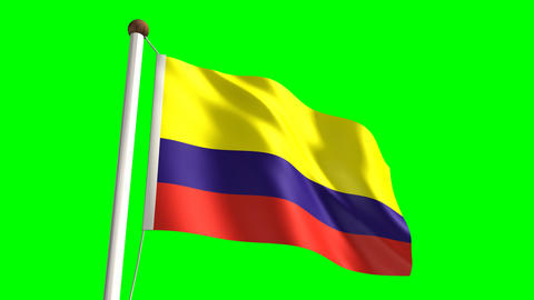 Colombia flag Stock Video Footage