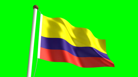 Colombia flag Animation