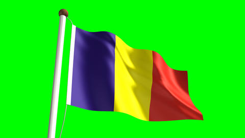Romania Flag stock footage