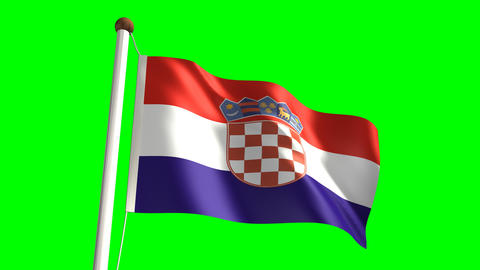 Croatia flag Stock Video Footage