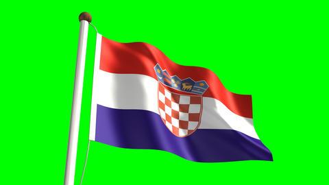 Croatia flag Stock Video Footage
