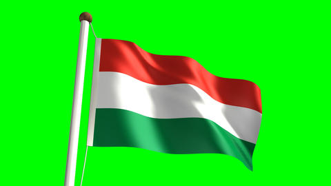 Hungary flag Animation