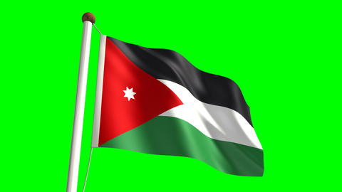 Jordan flag Stock Video Footage