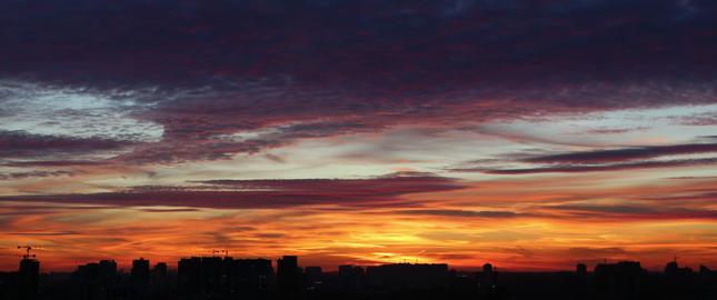 4k beautiful sunset Animation