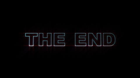 The End LEDS 01 stock footage