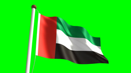 United Arab Emirates flag Animation