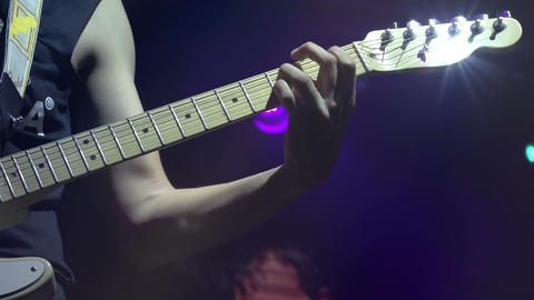 Electric Guitar on Stage HD Footage