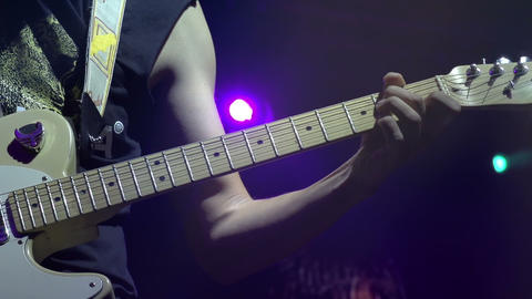 Electric Guitar on Stage HD Stock Video Footage