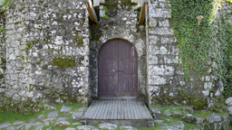 Entrance of Lindoso Castle Stock Video Footage