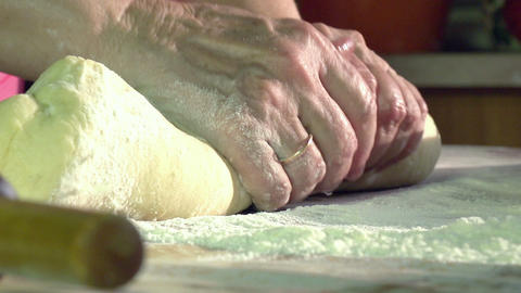 Kneading Dough HD Stock Video Footage