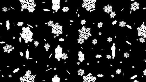 Falling Snowflakes Christmas Background with Alpha Stock Video Footage
