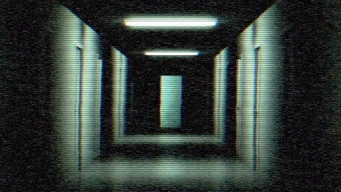 Hallway Of Fear stock footage