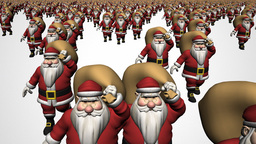 Sant Claus Crowd Stock Video Footage