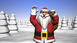 Greetings from Santa Claus Stock Video Footage