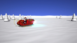 Santa Claus is starting his sleigh Stock Video Footage