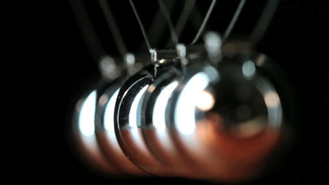 Close up of Newton's Cradle Stock Video Footage