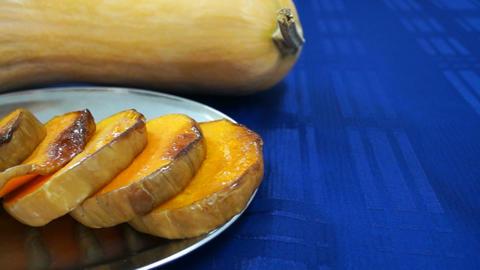 Baked pumpkins Stock Video Footage