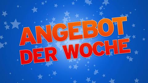 Weekly Special (In German) Stock Video Footage