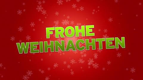 Merry Christmas (In German) Stock Video Footage