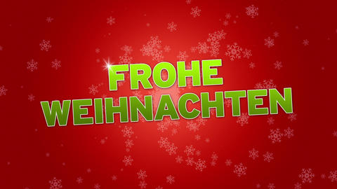 Merry Christmas (In German) Stock Video Footage