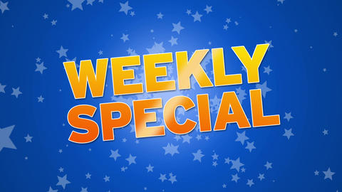 Weekly Special Stock Video Footage