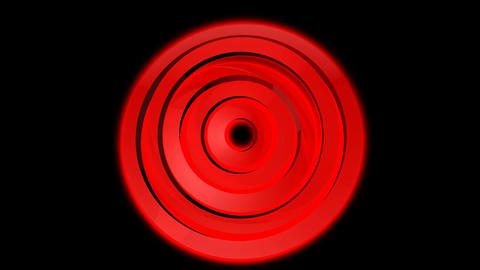 red ring spinning Stock Video Footage