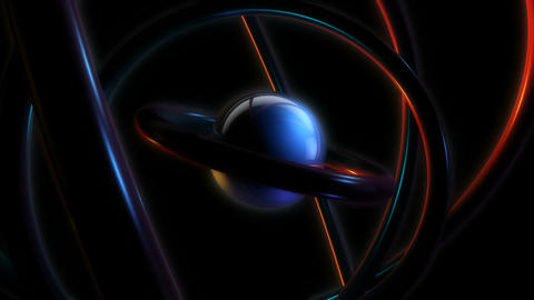 sphere orbit glowing Stock Video Footage