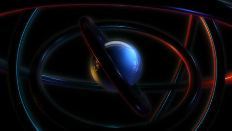sphere orbit glowing Animation