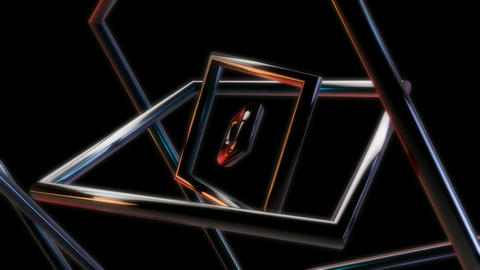 square metal rings Animation