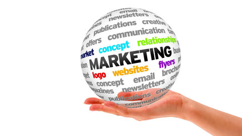 Marketing Word Sphere Stock Video Footage