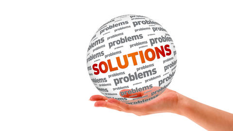 Solutions Word Sphere Stock Video Footage