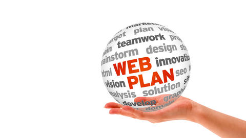 Web Plan Word Sphere Stock Video Footage