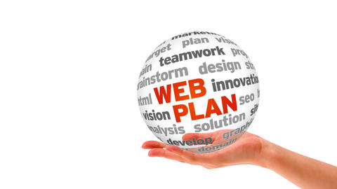 Web Plan Word Sphere Animation