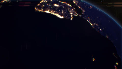 Night Cities from the Satellite. Europe. NASA Phot Stock Video Footage