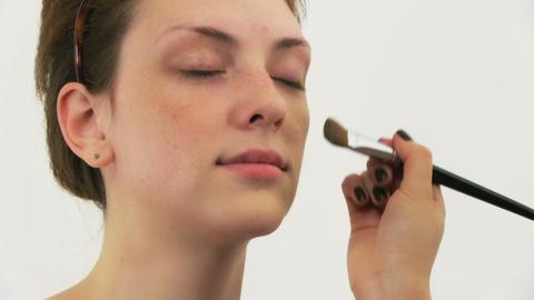 Woman having make up in beauty salon Stock Video Footage