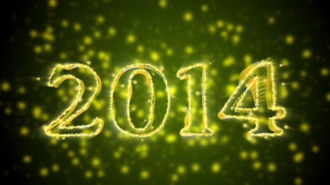 New Year 2014 And 2015 Titles With Alpha stock footage