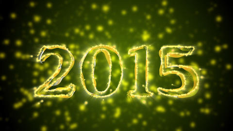 New Year 2014 and 2015 Titles with Alpha Stock Video Footage
