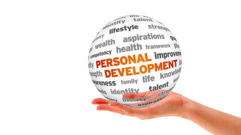 Personal Development Word Sphere stock footage