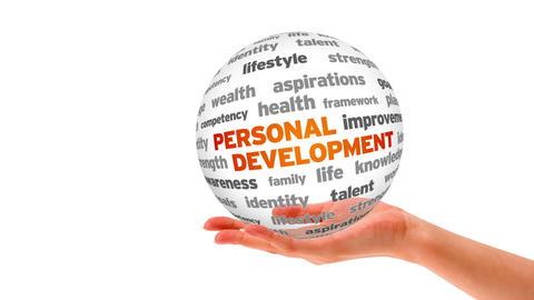 Personal Development Word Sphere Stock Video Footage