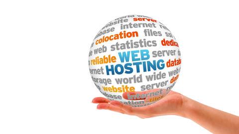 Web Hosting Sphere Stock Video Footage